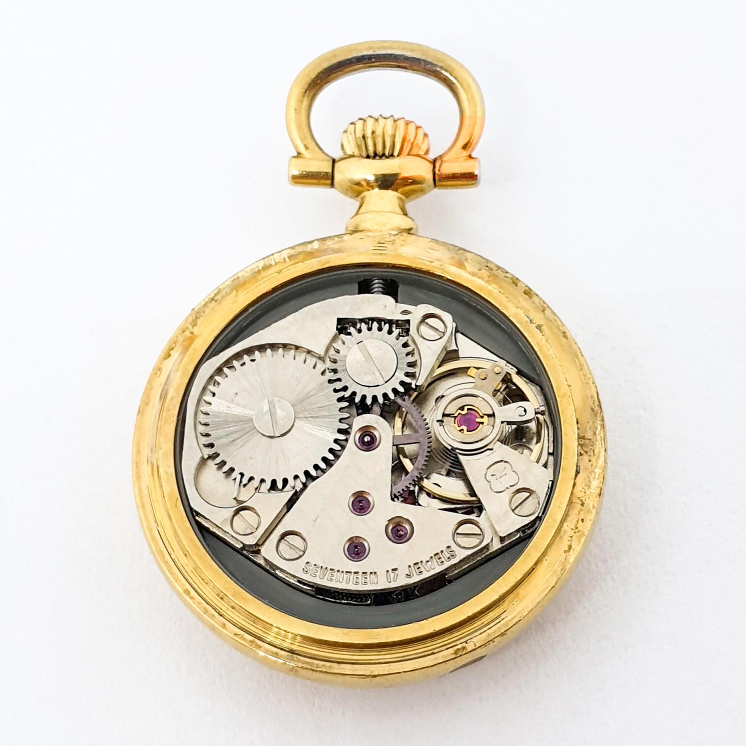 Orologio da tasca monachina BREIL Okay Valentine carica manuale acciaio placcato oro 438vv19